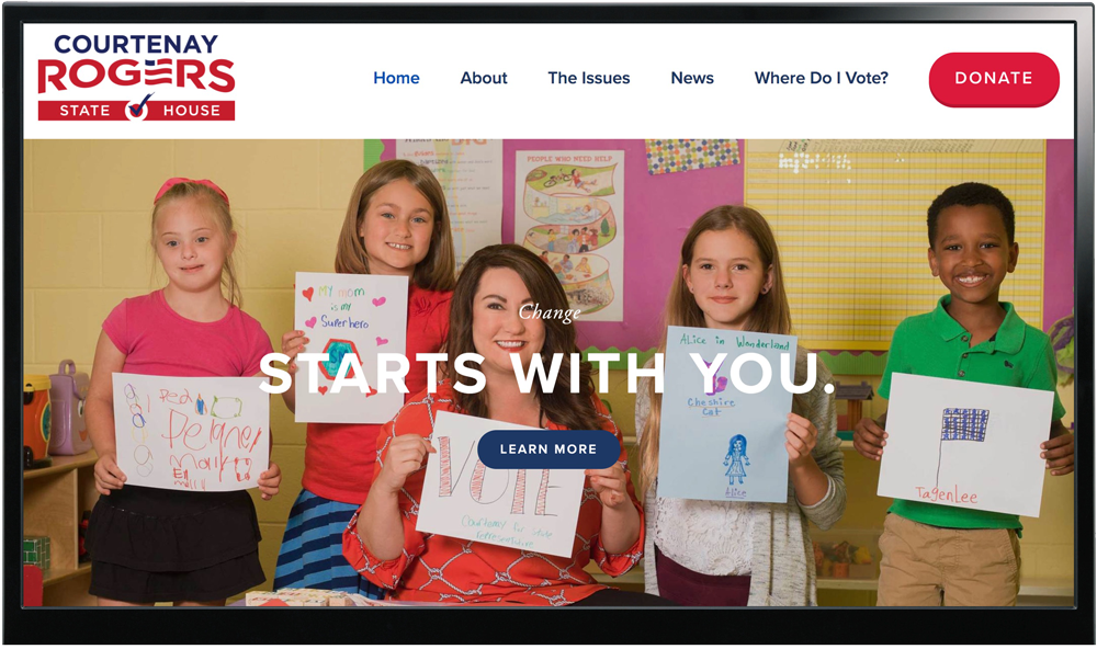 Courtenay Rogers For Tennessee State House - Website Design & Branding