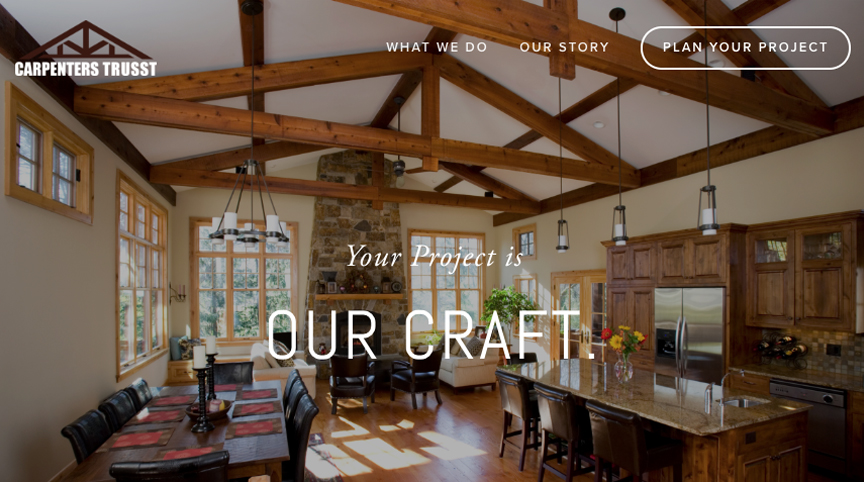 Carpenters Trusst Website Design