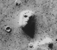 Pareidolia, or faulty pattern recognition