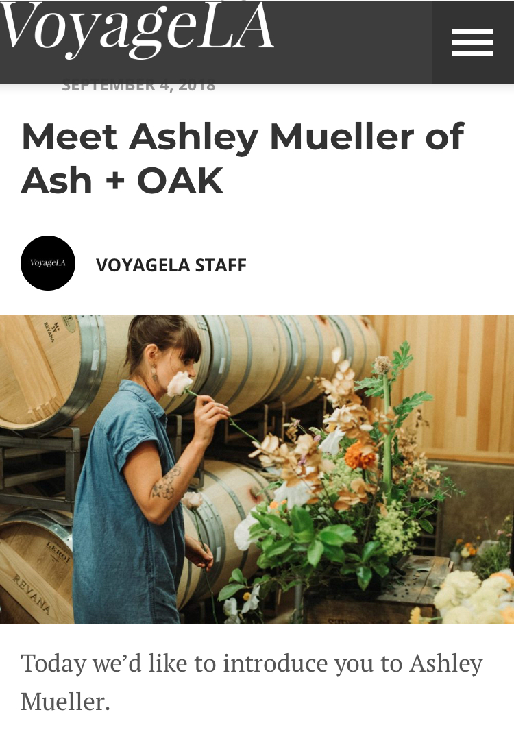 Ash + Oak on Voyage LA