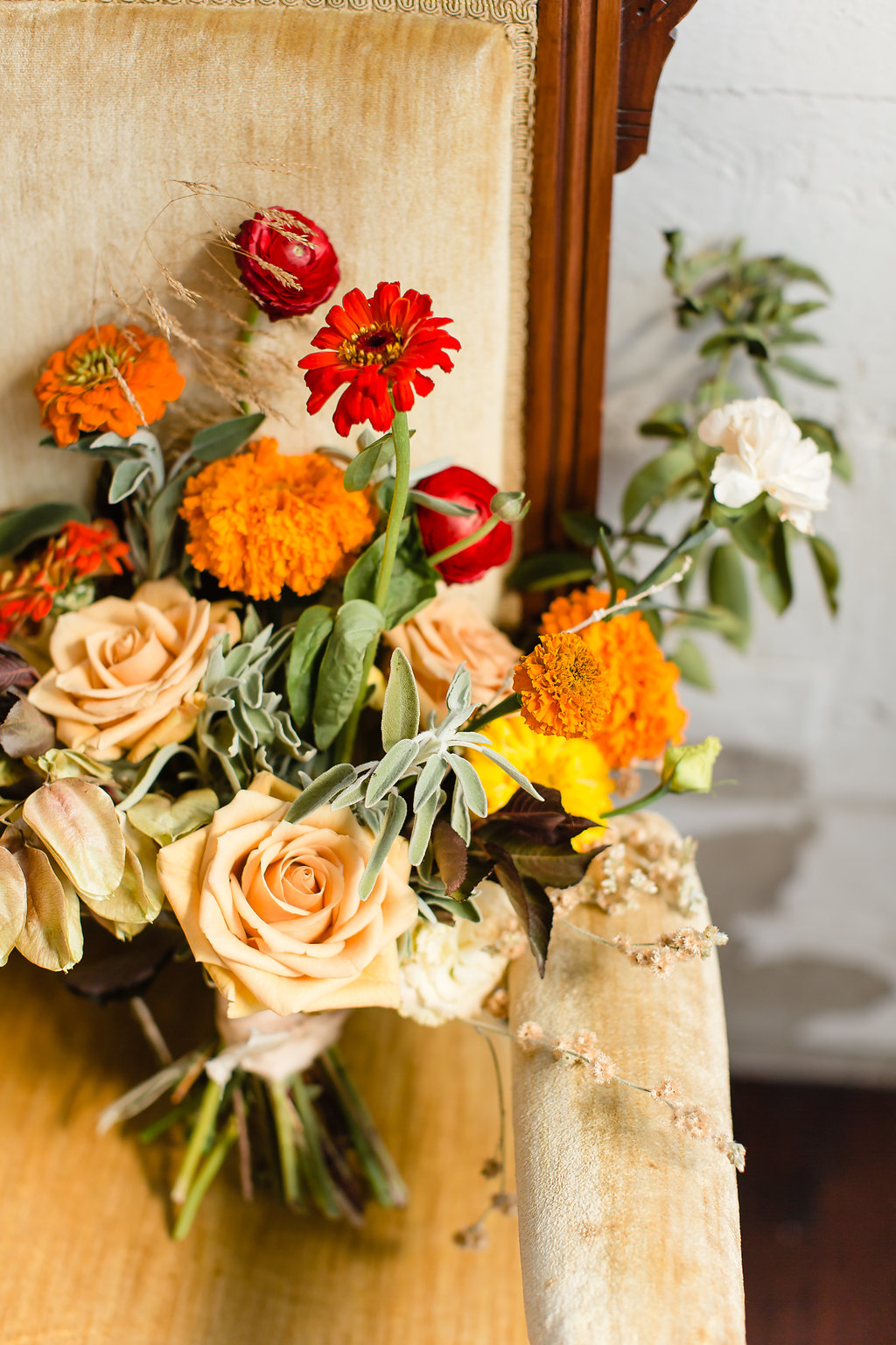 ASH + OAK orange and yellow wedding at CENTRAL KITCHEN SF