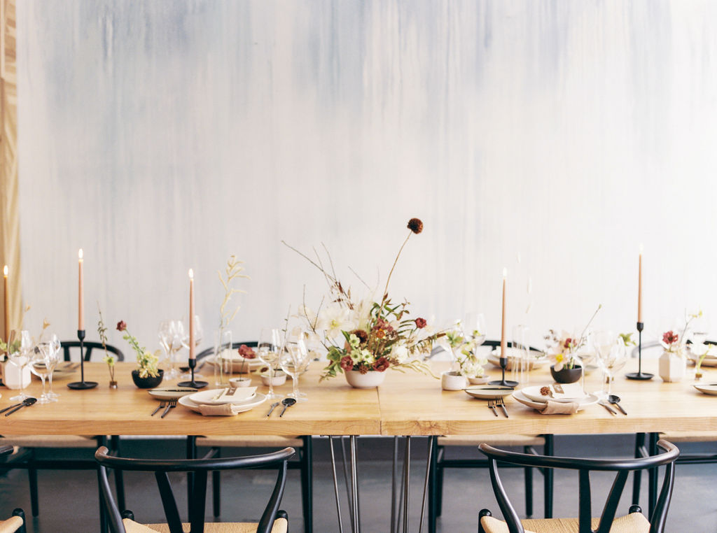 Family Style Food + Tons of Tiny Table Arrangements Wedding Tips From Ash + Oak San Francisco's top wedding florist