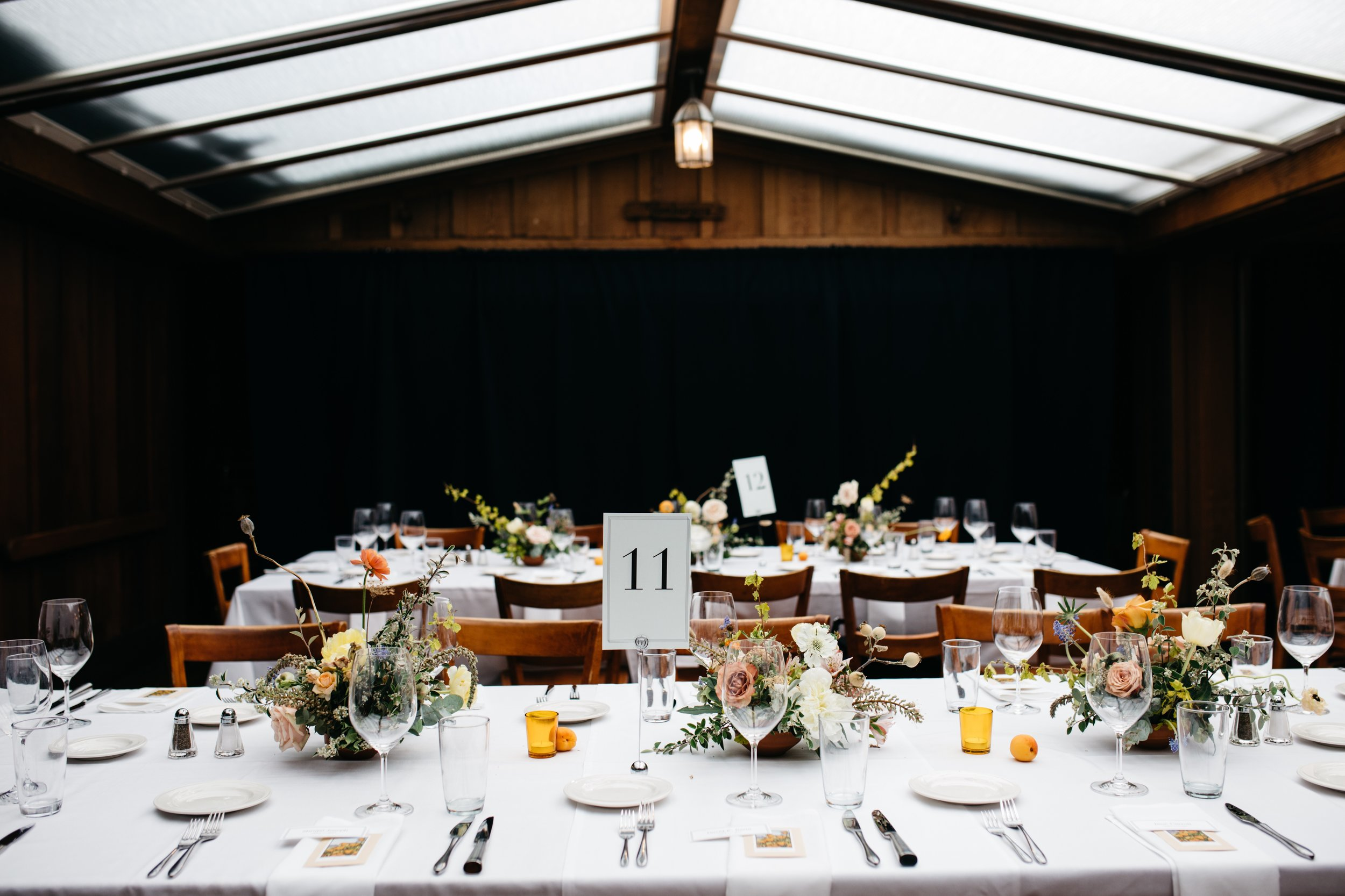 Family Style Food + Tons of Tiny Table Arrangements Wedding Tips From Ash + Oak San Francisco's top wedding florist San Francisco Top wedding florist ASH + OAK