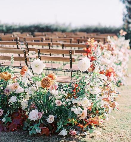 Behind the scene as a wedding florist Ash + Oak