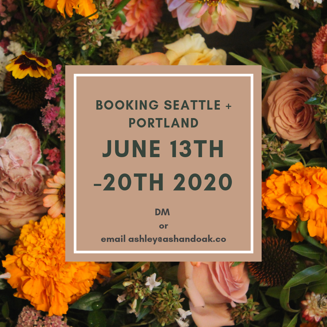 Booking Seattle 2020 weddings