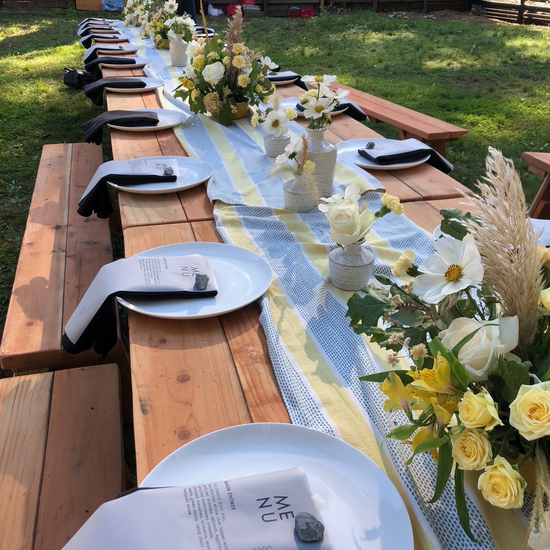 Modern picnic wedding by Ash + Oak