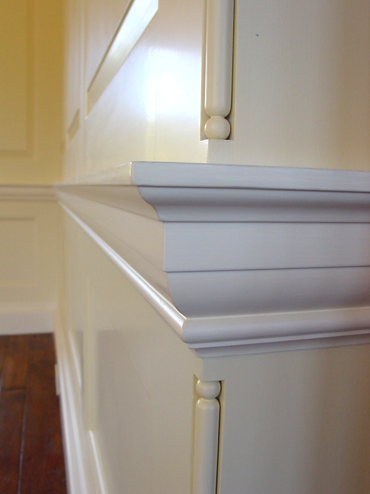 All of the wood  work was custom milled to match the original drawings by Lutyens.