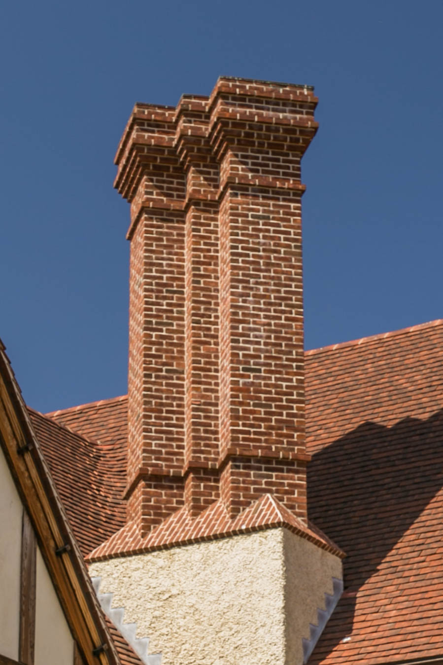 A reproduction of one of the   chimneys that Lutyens designed for Orchards in Surrey   in 1899