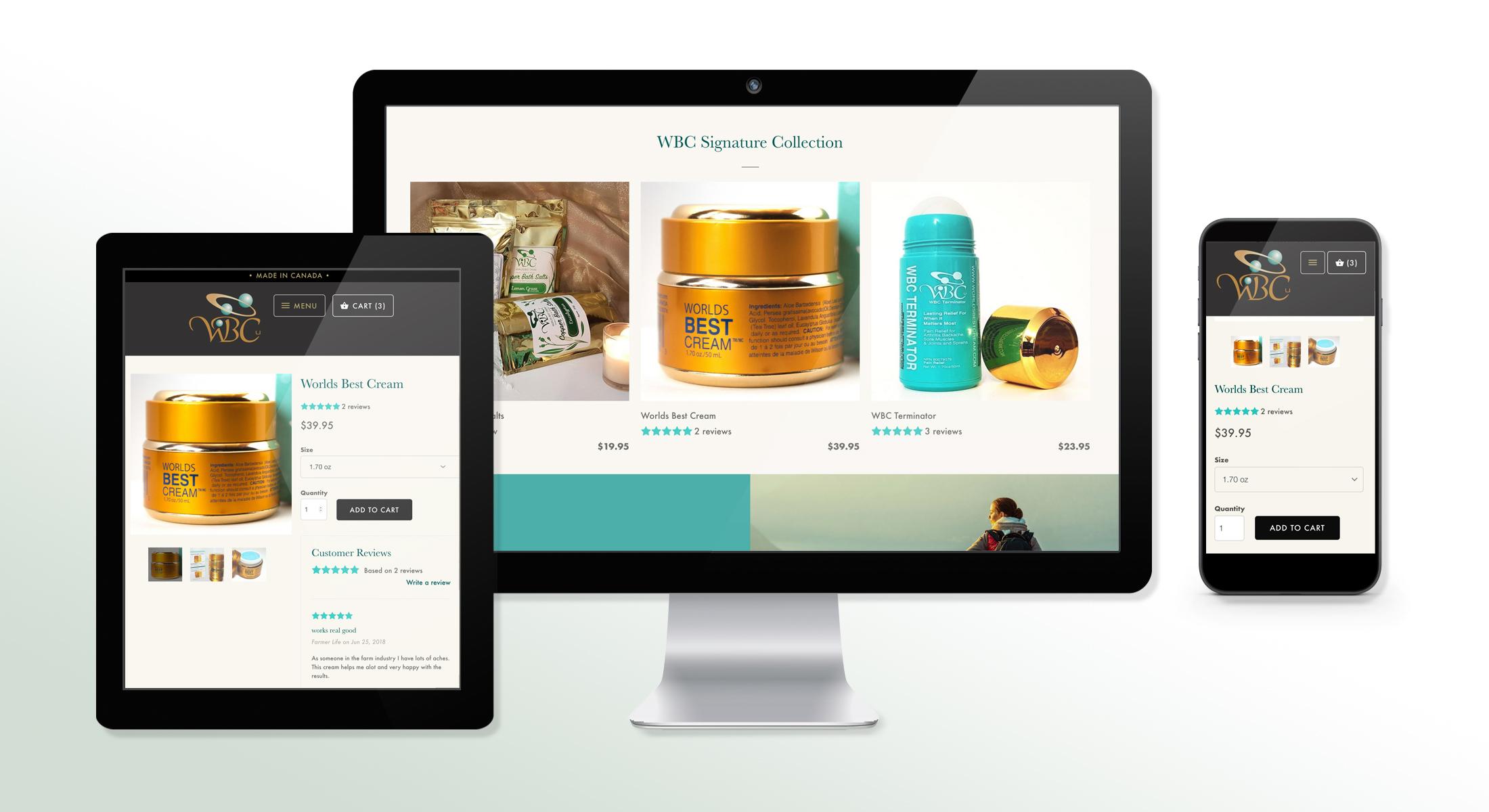 Worlds Best Cream Shop Online / E-Commerce Website