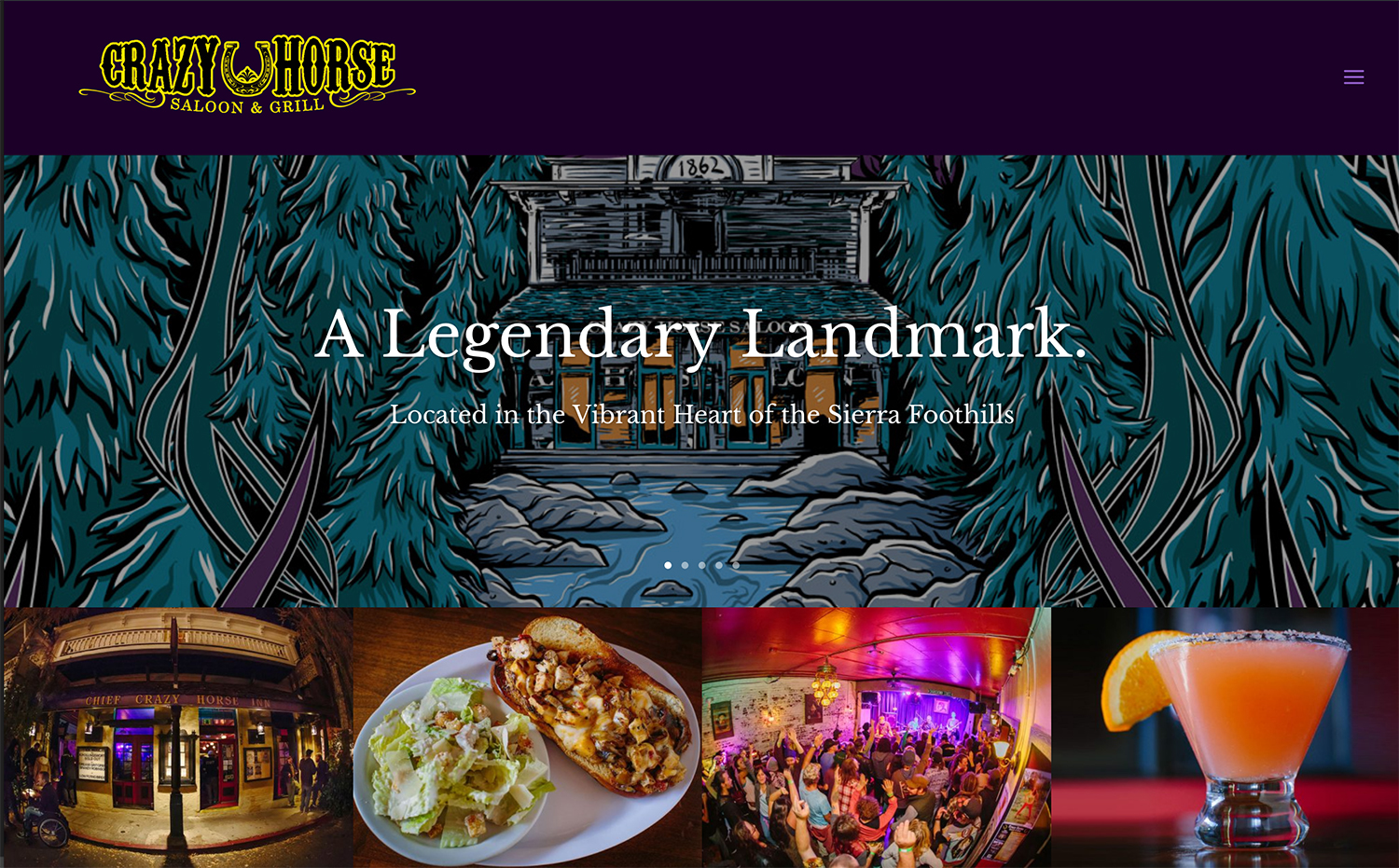 Crazy Horse Saloon & Grill Website
