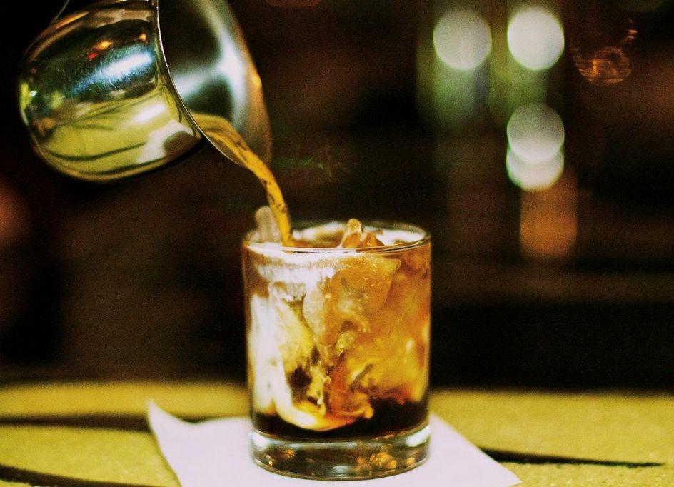 Betty Whizzle: Vodka, Housemade coffee-infused rum liqueur, fresh Cream & Espresso