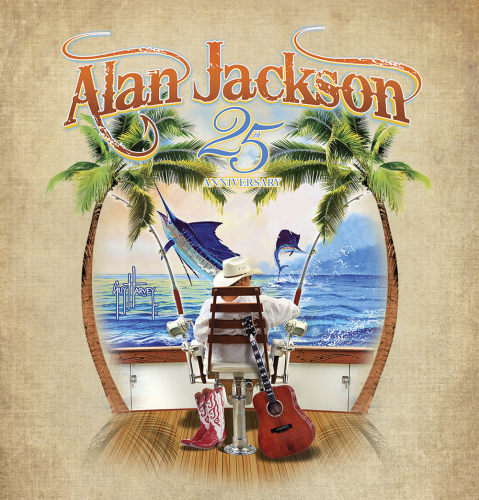 Alan Jackson and Guy Harvey have teamed up to raise money for Harvey's Ocean Foundation through proceeds for T-shirt sales on Jackson's 25th Anniversary Tour.