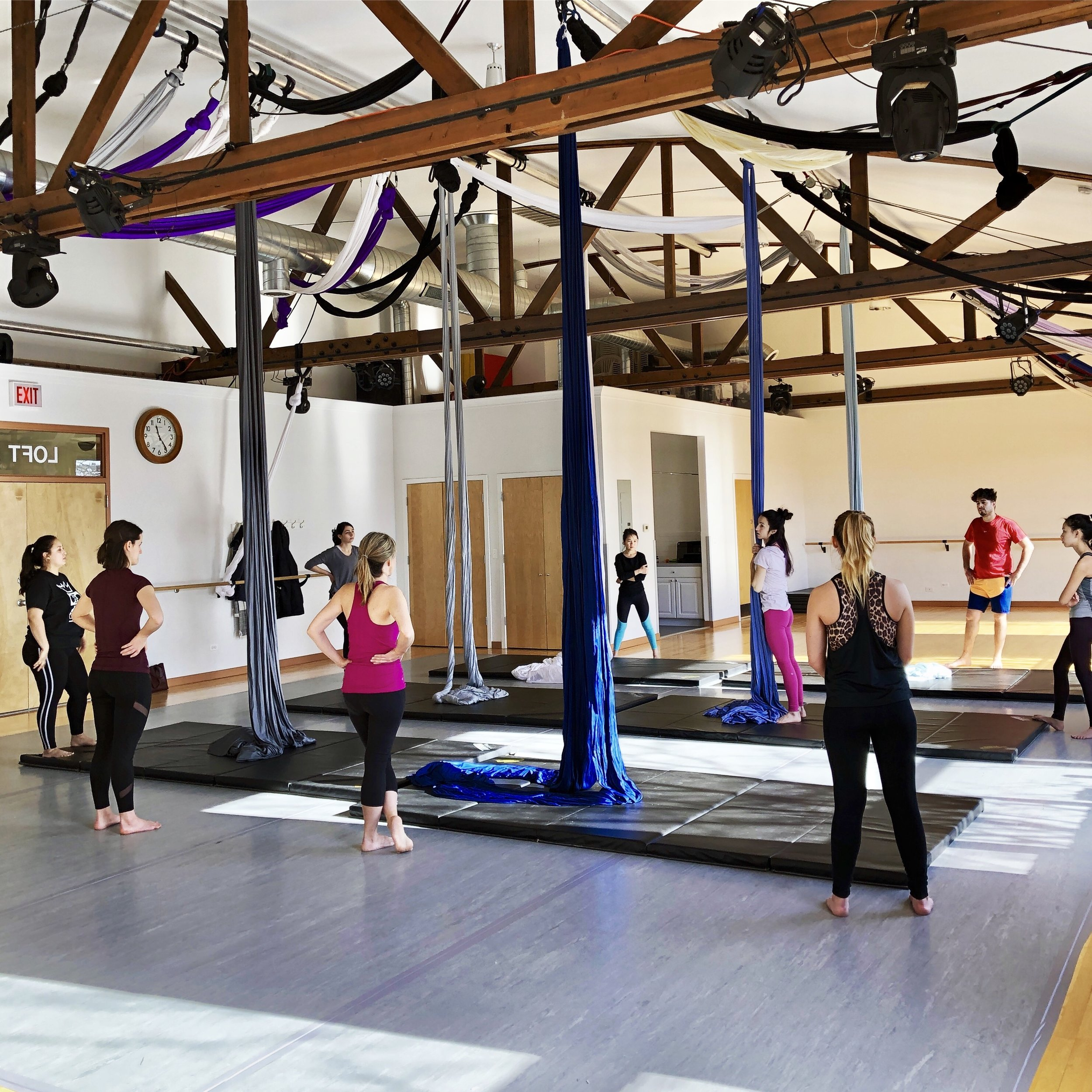 JOIN US!   The School of Aerial Dance Chicago offers high quality instruction for beginners through professionals.   Learn More