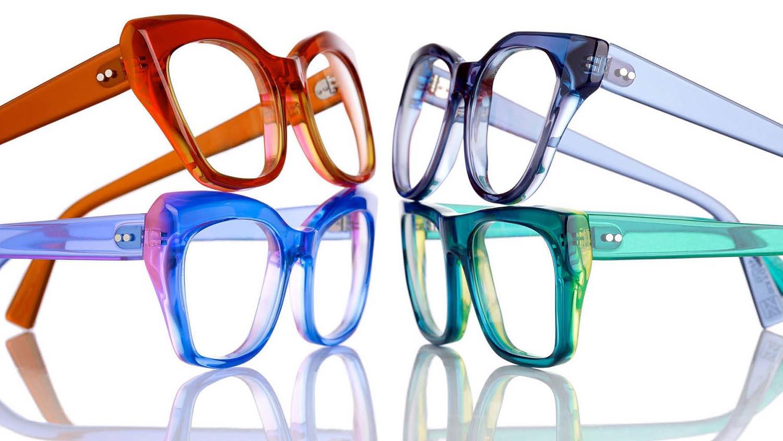 Kirk and Kirk eyewear frames at Artisan Eyeworks in Ashland, Oregon