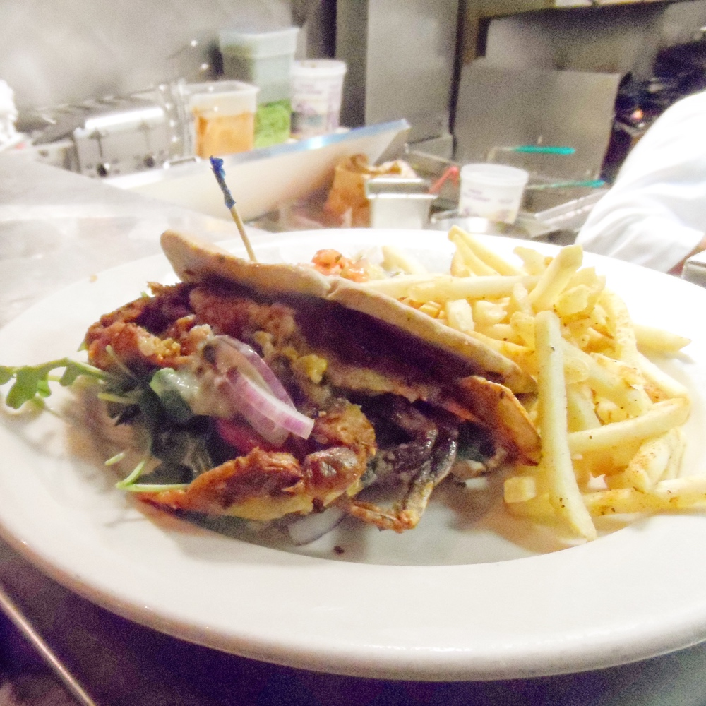 Elm Street Oyster House Greenwich Soft Shell Crab Gyro