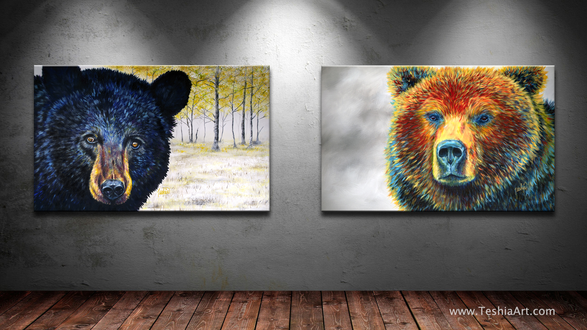 """Autumn Eyes"" & "" Bear Thoughts """