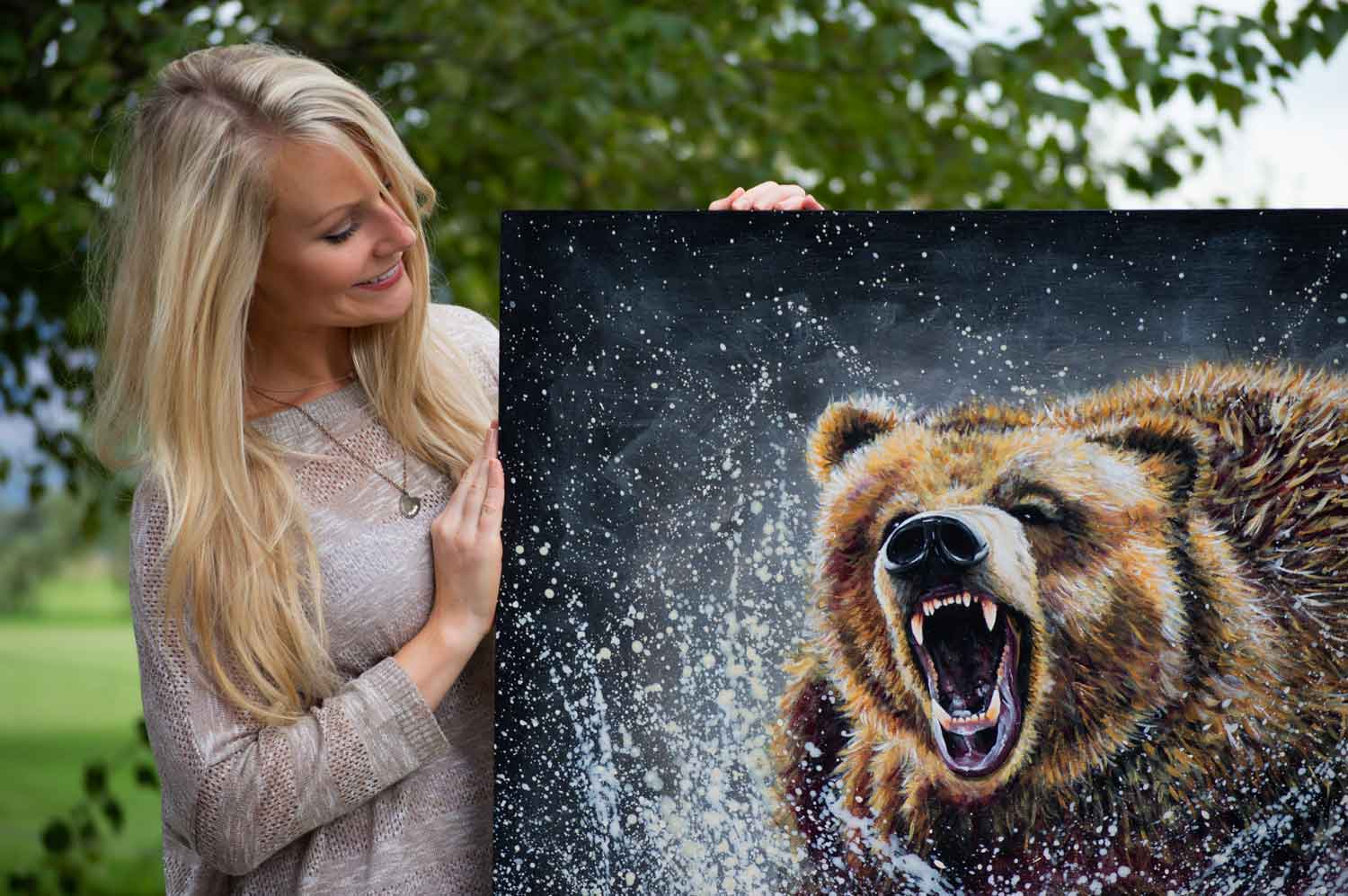 "Grizzly Scholarship Association, Original Art Donation of ""Dominance"" by Teshia"