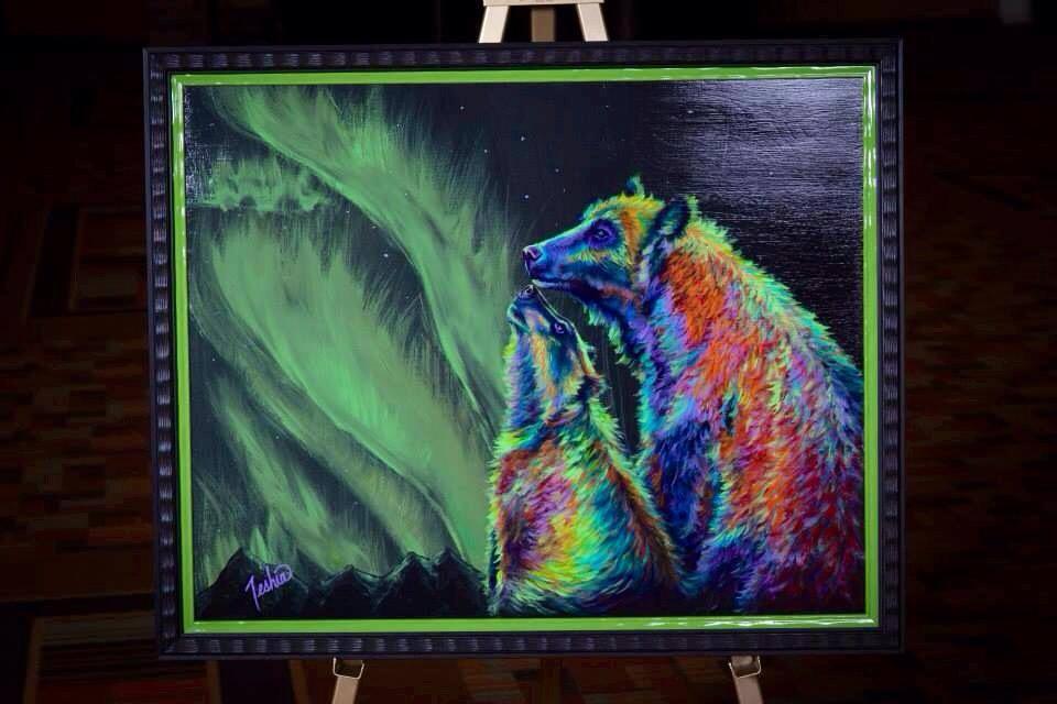 "Mountain Home Montana Original Art Donation of ""Imagine"" by Teshia"
