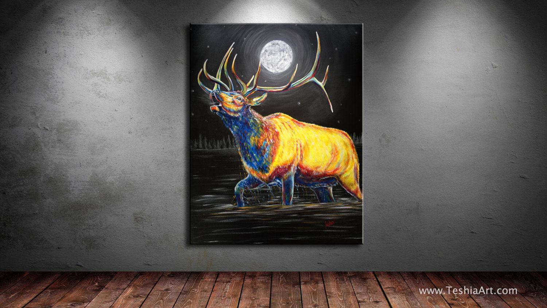 "Moon Bugle, 60x48"" Acrylic on Canvas"