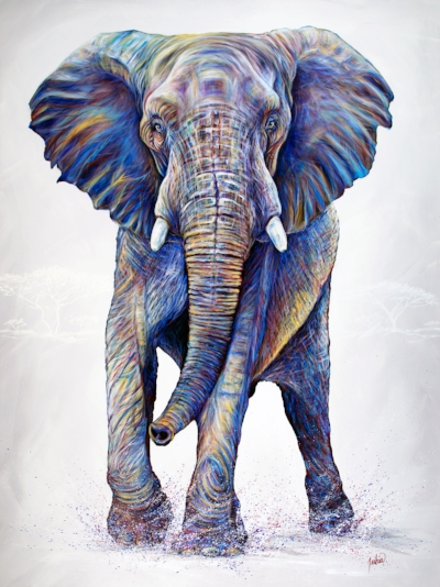 African Elephant Fine Art Painting and Prints
