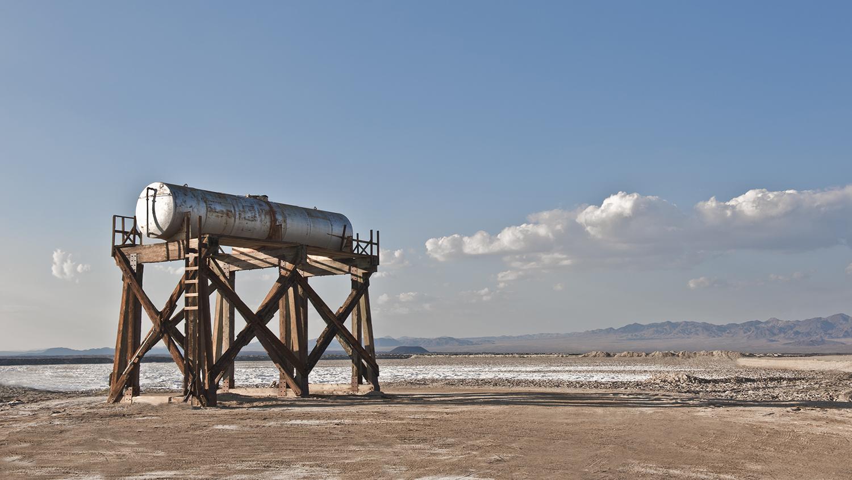Tank in Salt Field
