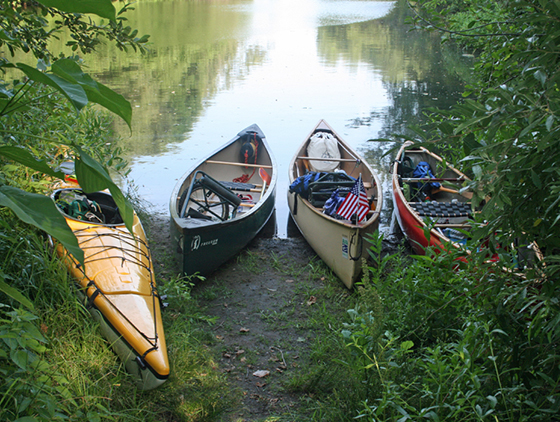 Three of the four paddlers completed the eight-day trek in canoes. The group's journalist used his kayak.