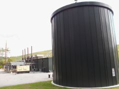 This 96,000-gallon tank in Dartmouth can process up to 30,000 gallons of organic waste daily. (Tim Faulkner/ecoRI News)