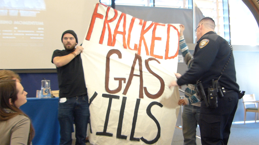 Protesters interrupted a recent talk at Yale University by Sen. Whitehouse to call the Rhode Island Democrat a 'climate clown.' They don't agree with his take on natural-gas expansion in southern New England. (Capitalism vs. the Climate)
