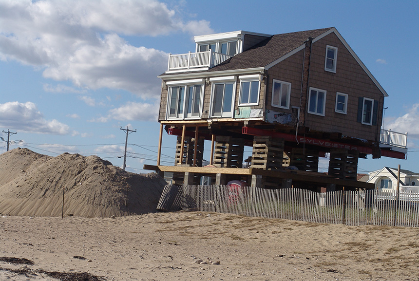 While Westerly, R.I., was hit hard by Superstorm Sandy, only a few of the waterfront properties damaged there were rebuilt to better withstand climate change. (Frank Carini/ecoRI News)