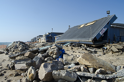 Misquamicut Beach in Westerly, R.I., was hit hard by Hurricane Sandy in 2012, but of the 29 waterfront properties damaged, only five were built to better withstand climate change. (istock)