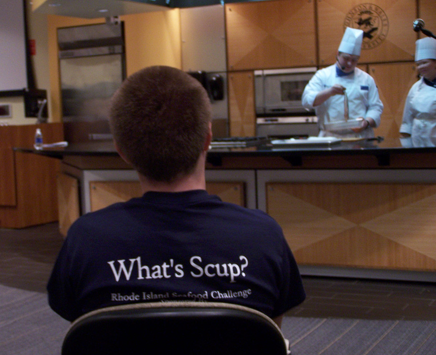 The second Rhode Island Seafood Challenge, held April 10 at Johnson & Wales University, was all about scup. (Joyce Rowley/ecoRI News)