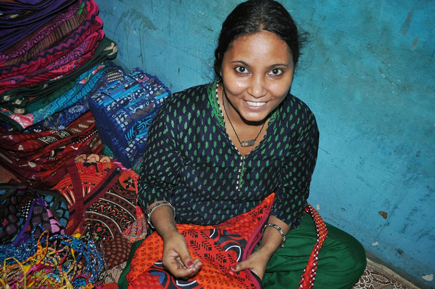 The women involved with EarthFrendz are paid fair compensation for their work and are encouraged to become self-reliant business people.