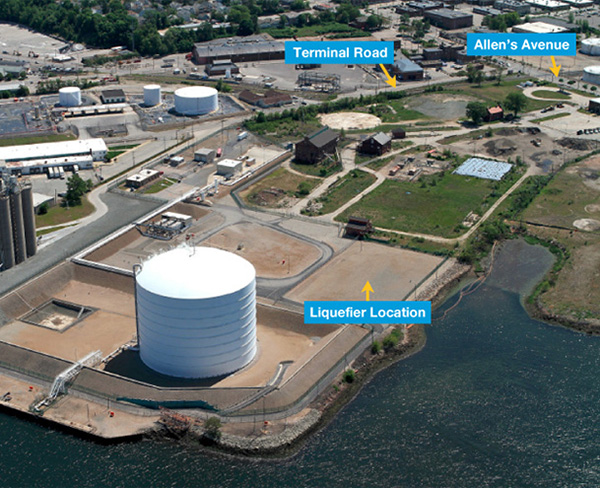 A new LNG project is being proposed for the Providence waterfront. (National Grid)