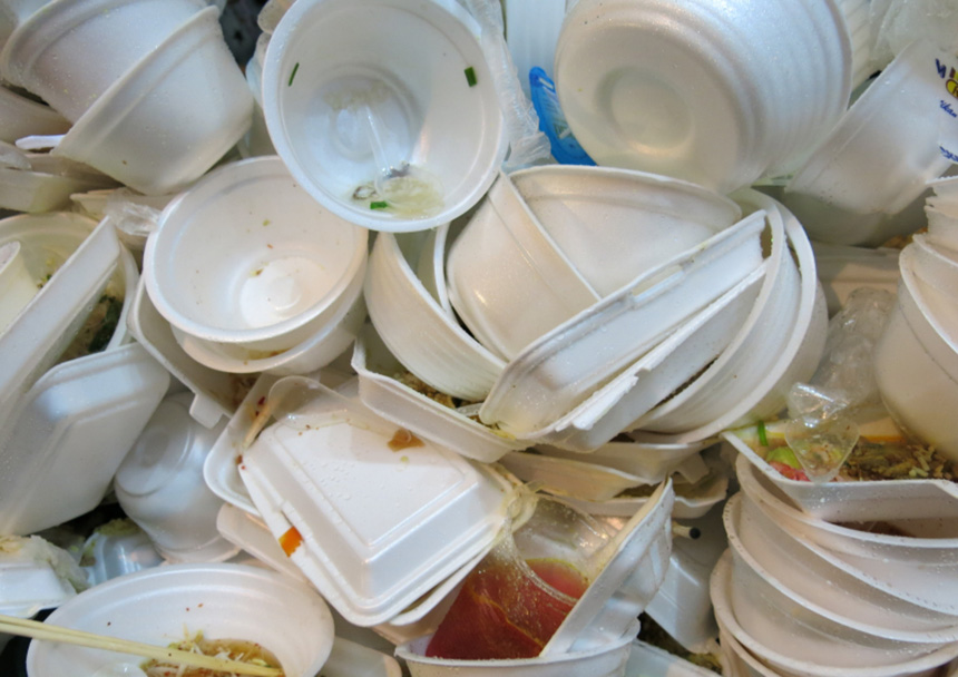 Americans throw away some 25 billion Styrofoam cups annually, according to the EPA. Five centuries from now, foam coffee cups and other Styrofoam will still be taking up space in landfills. (istock)