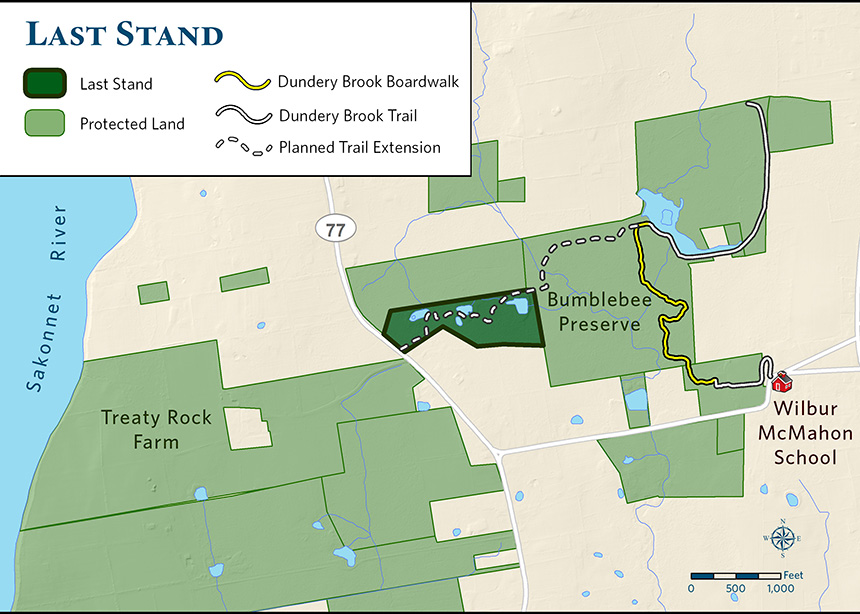 The Nature Conservancy's Bumblebee Preserve in Little Compton, R.I., recently added the 18-acre parcel known as the 'Last Stand.' (TNC)