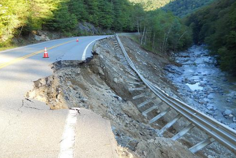 Significant flooding caused by Hurricane Irene in 2011 around the Deerfield and Connecticut rivers in Massachusetts rendered a 6-mile stretch of Route 2 impassable. Reconstruction cost $34.5 million. (MassDOT)