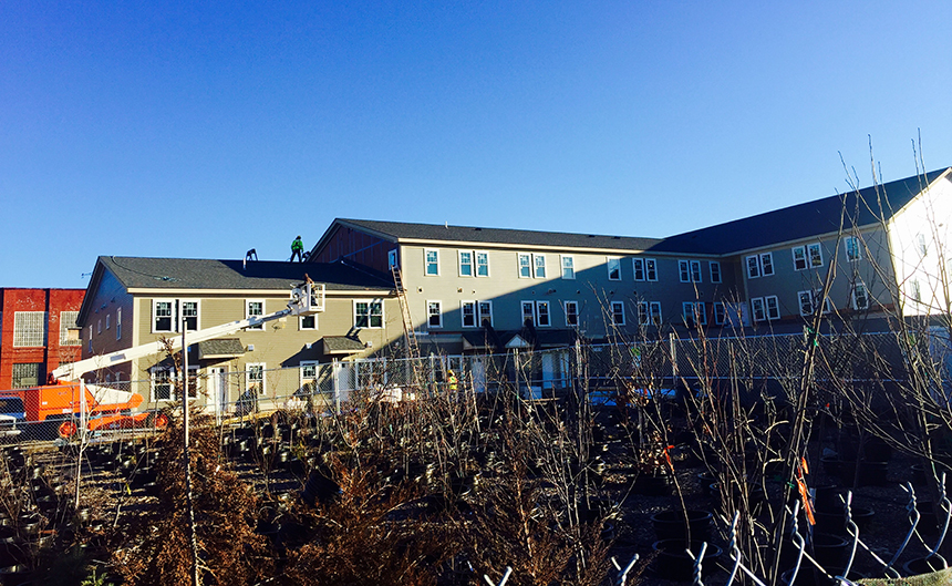 The West Elmwood Housing Development Corporation is building community for a predominately low-income neighborhood in Providence's West End. (Leigh Vincola)
