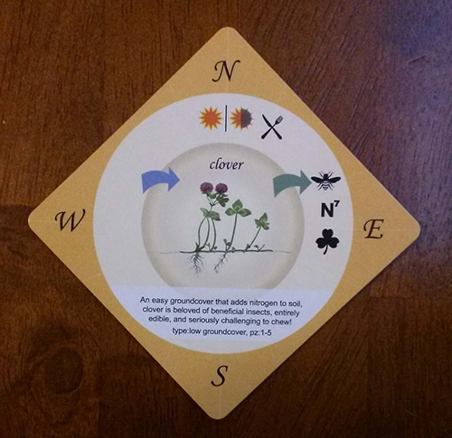 One of the cards in Karl Treen's 'Food Forest' game. (Permaculture Providence)