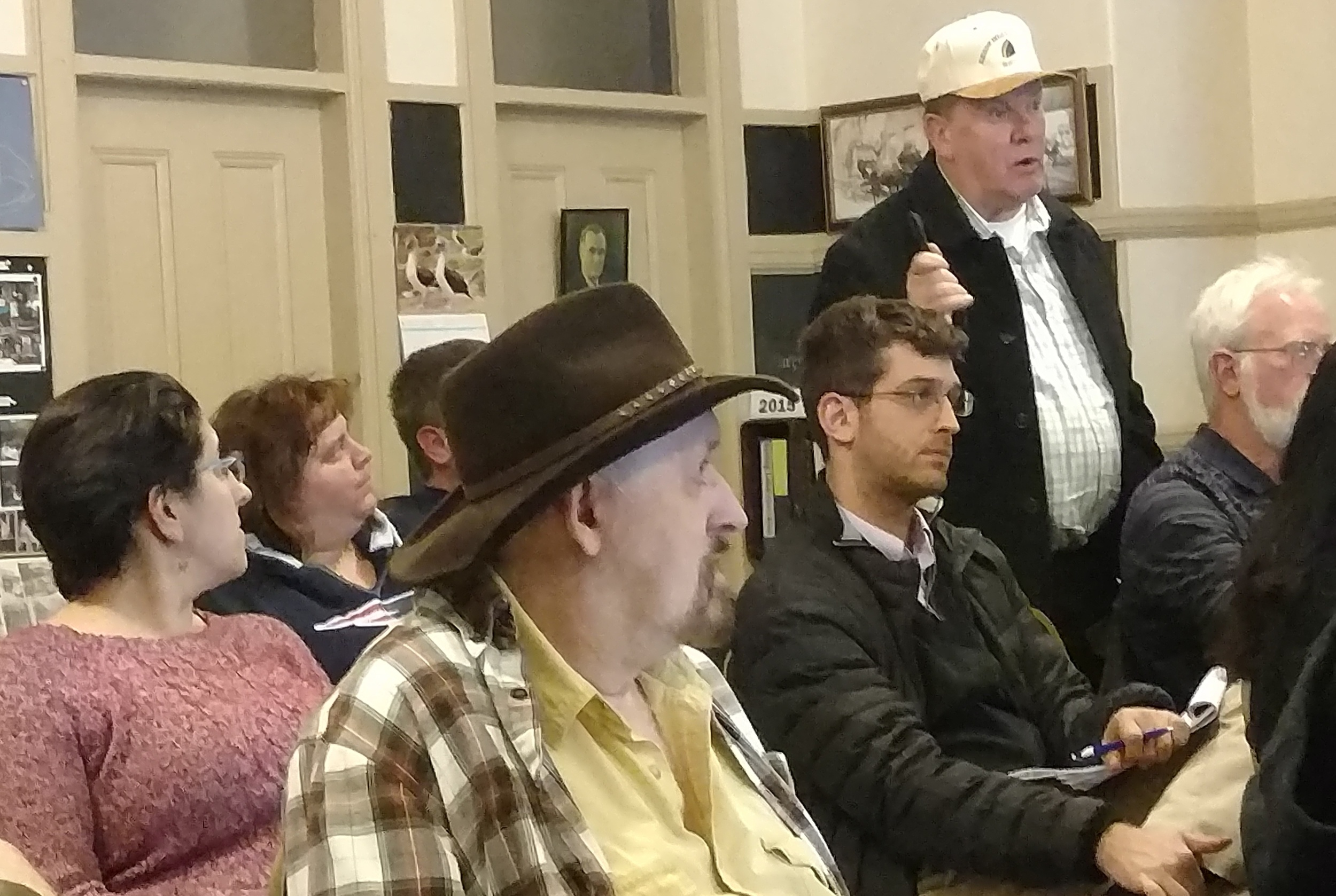 Burrillville, R.I., residents spoke against the proposed natural-gas power plant during a March 24 workshop. (Tim Faulkner/ecoRI News)