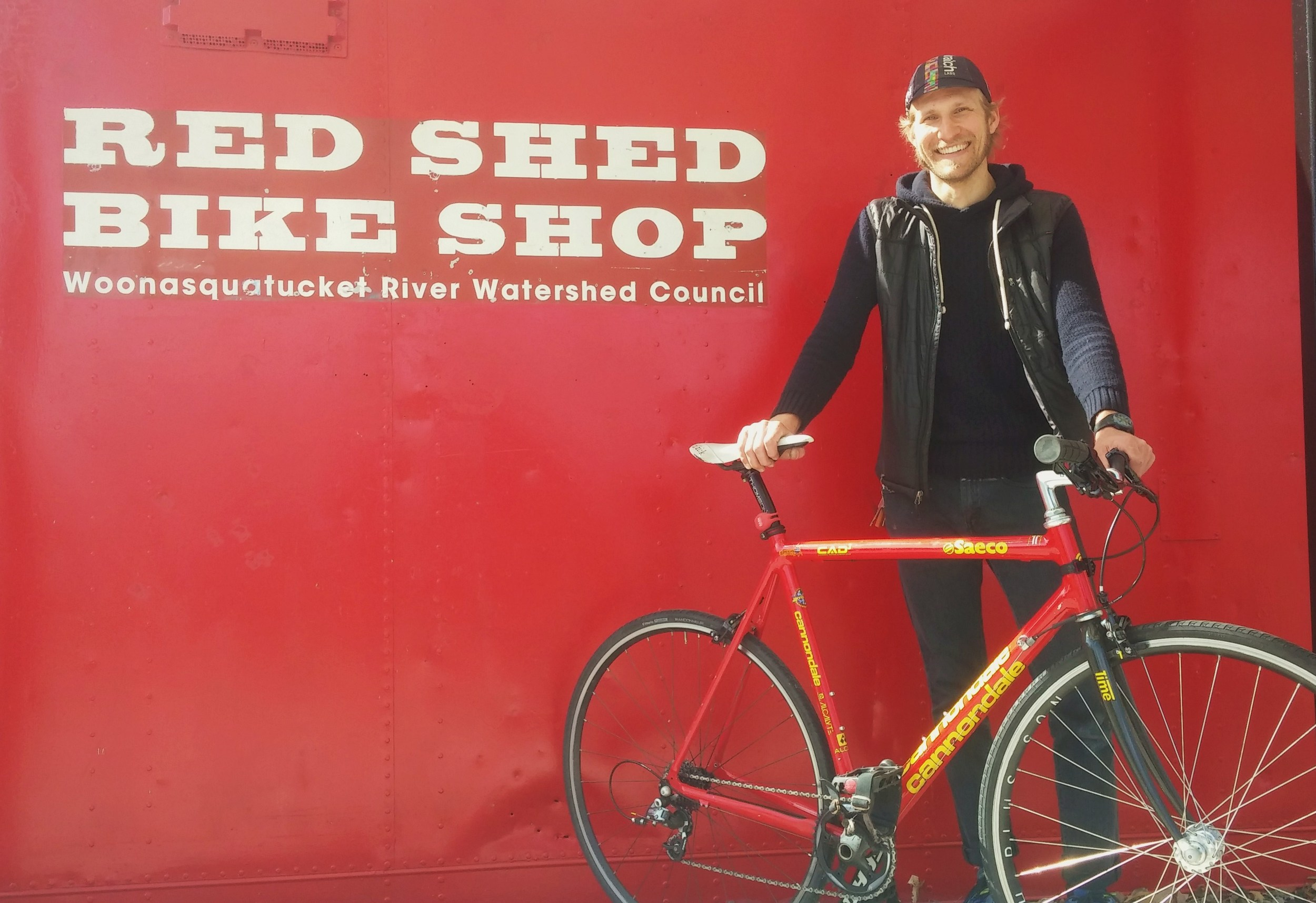 Donny Green manages the Red Shed Bike Shop and a related bike-themed summer camp in Providence's Olneyville neighborhood. (Kevin Proft/ecoRI News)