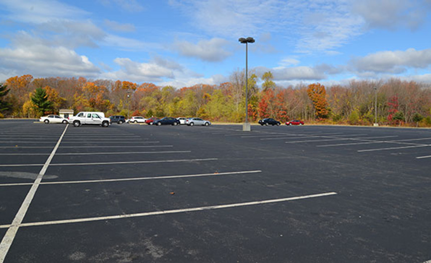 Nearly 30 percent, and growing, of Rhode Island's land total has been developed and covered by impervious surfaces such as parking lots, like this one in Lincoln. (ecoRI News)