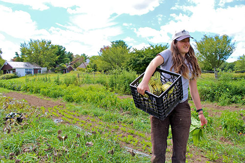 Tess Brown-Lavoie is one of three women farmers who are hosting the camp. (Sidewalk Ends Farm)
