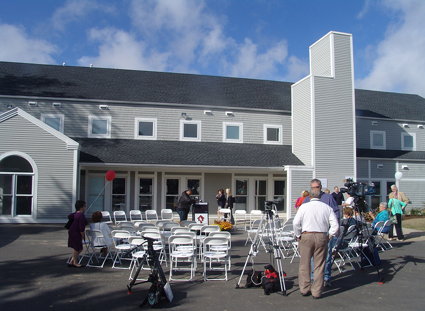The ribbon was cut Oct. 13 at the new 9,300-square-foot home of Lucy's Hearth on Valley Road.