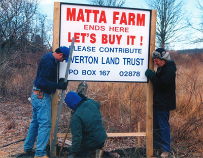 The Tiverton Land Trust was created by residents concerned about plans to build up to 100 single-family homes on 237 acres of open space. Today, the property is home to the Pardon Gray Preserve. (Tiverton Land Trust)