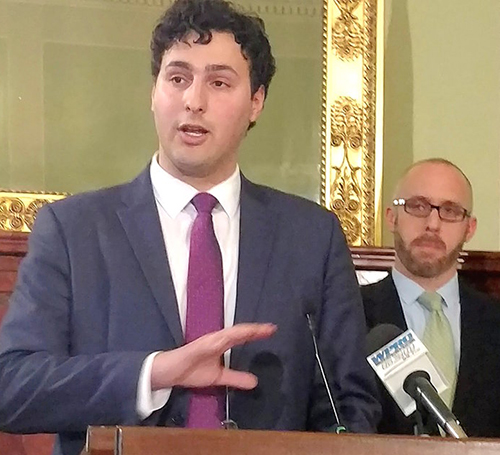 Rep. Aaron Regunberg has introduced a carbon bill for the second straight year. (Tim Faulkner/ecoRI News)