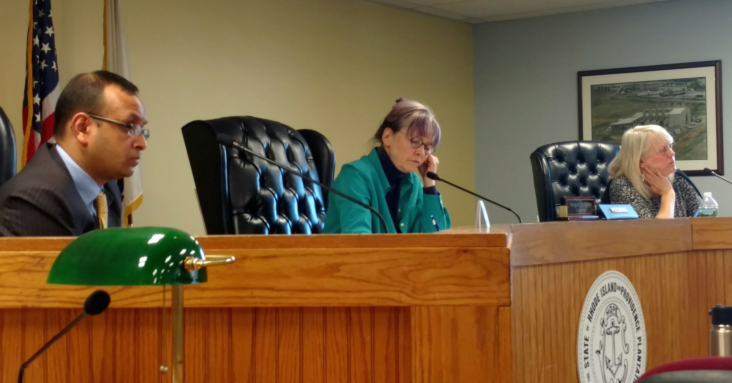 The Rhode Island Energy Facility Siting Board was dismissive of motions to reject the power plant proposed for Burrillville. (Tim Faulkner/ecoRI News photos)