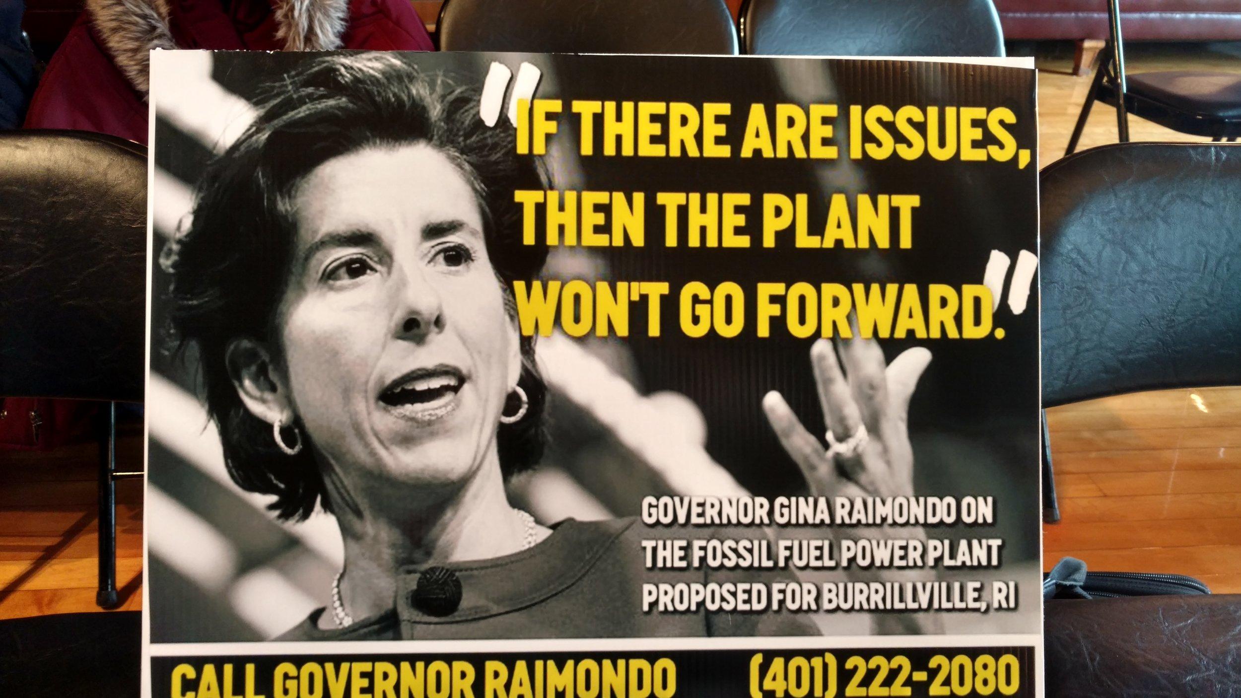 Prominent environmental groups are urging Gov. Gina Raimondo to oppose the proposed Burrillville power plant. (Tim Faulkner/ecoRI News)