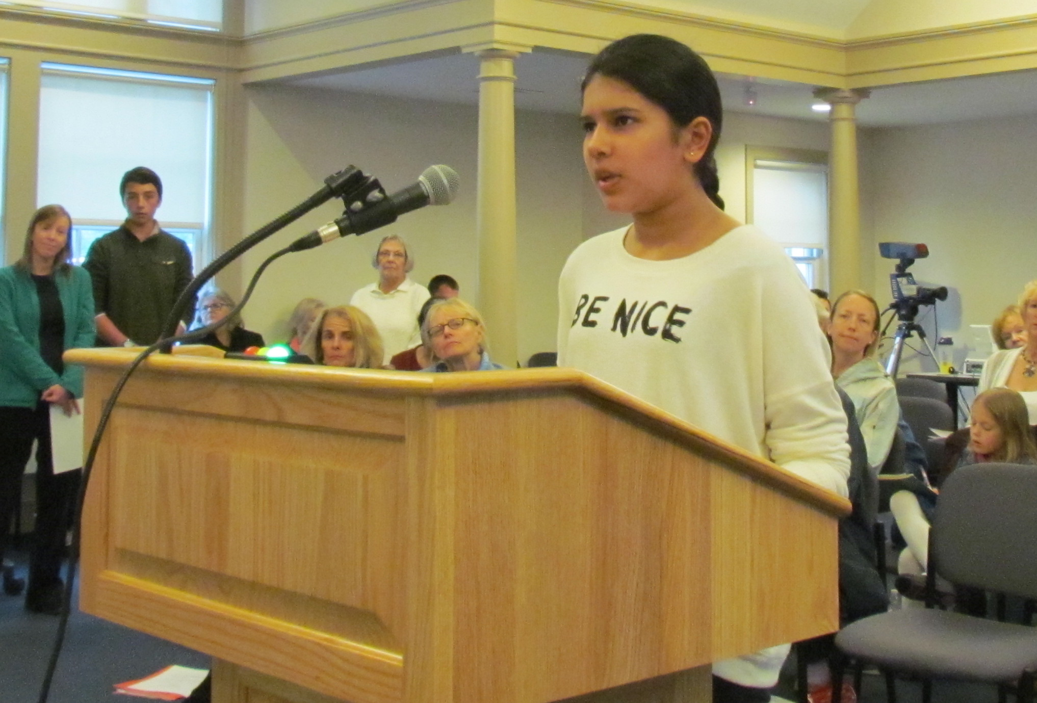 Simar Randhawa was one of several kids to testify at the May 1 Middletown Town Council meeting. (Tim Faulkner/ecoRI News photos)