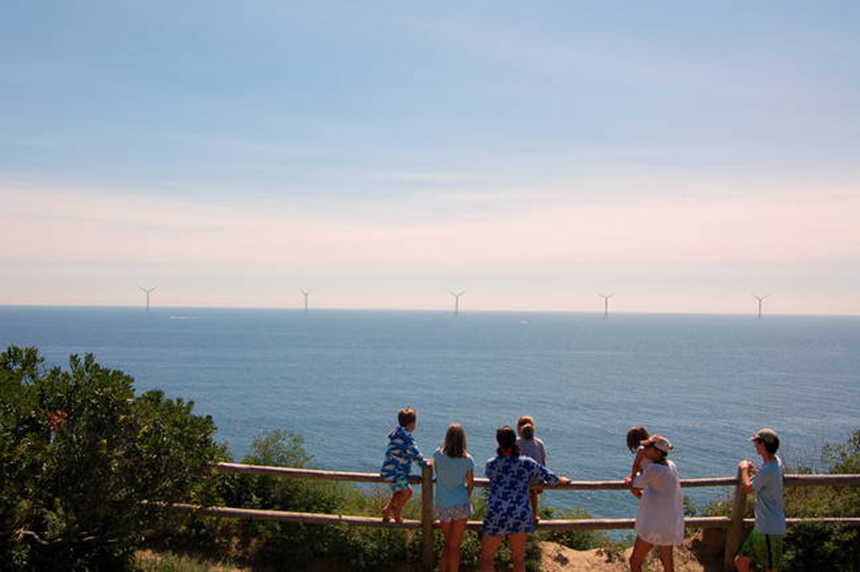 The Block Island Wind Farm has become a tourist attraction. (Phil McKenna/InsideClimate News)