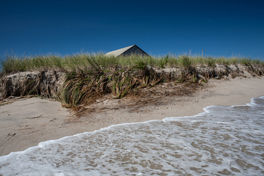 Sea-level rise is accelerating beach erosion in southern New England, like this spot on Cape Cod. (istock)